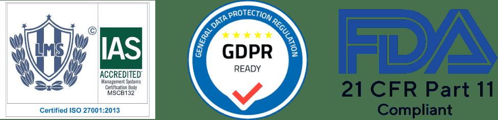 ISO GDPR FDA Certifictes